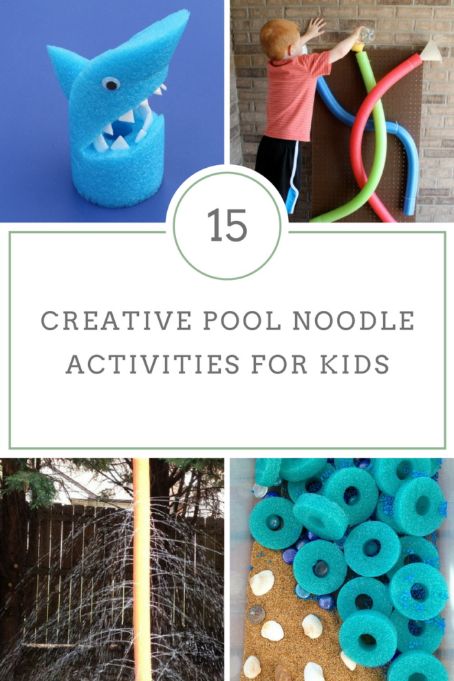 15 Creative Pool Noodle Activities For Kids are just what you need to make your kids summer full of fun on a budget! Grab this popular summer item today! #Summer #summerswimming #summeractivities #Way2GoodLife