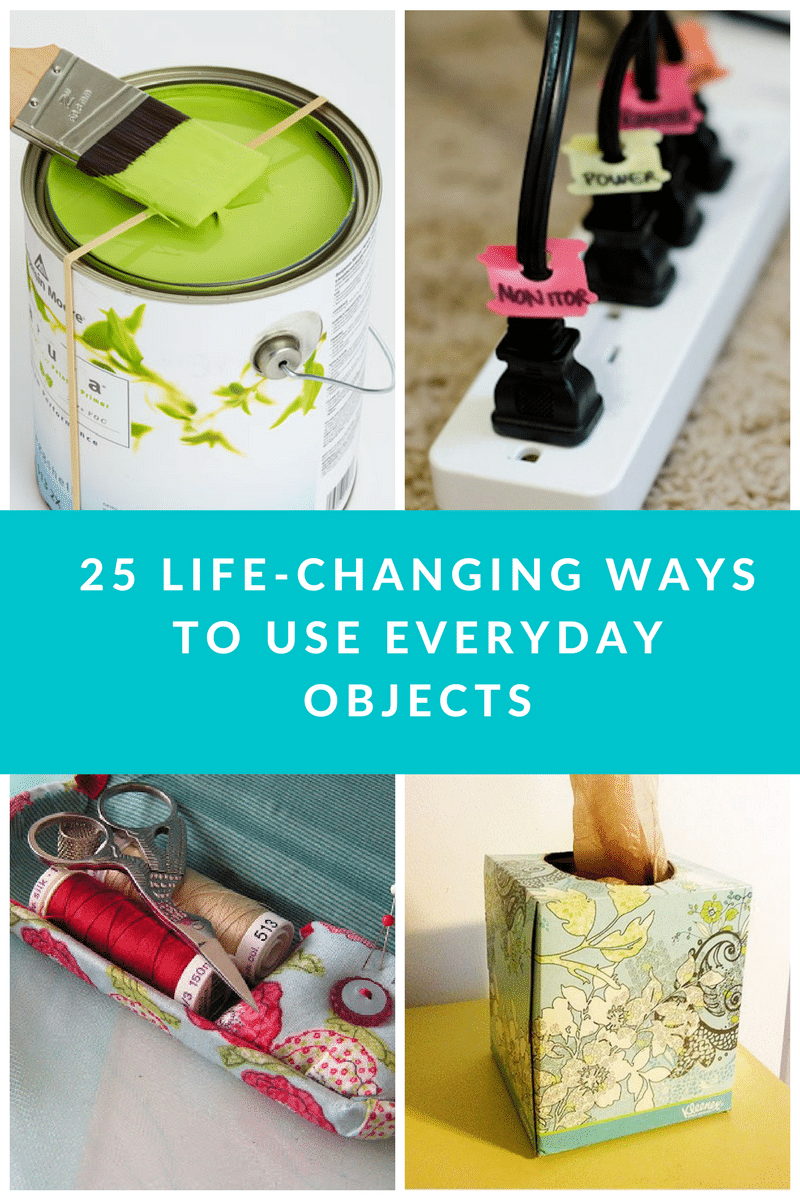 25 Simple Life Hacks Using Everyday Objects are just what you need to change your routine. These are ideal for making your life easier to manage!
