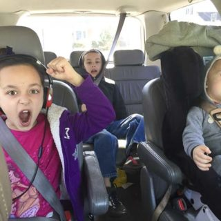 Kids in the car screaming