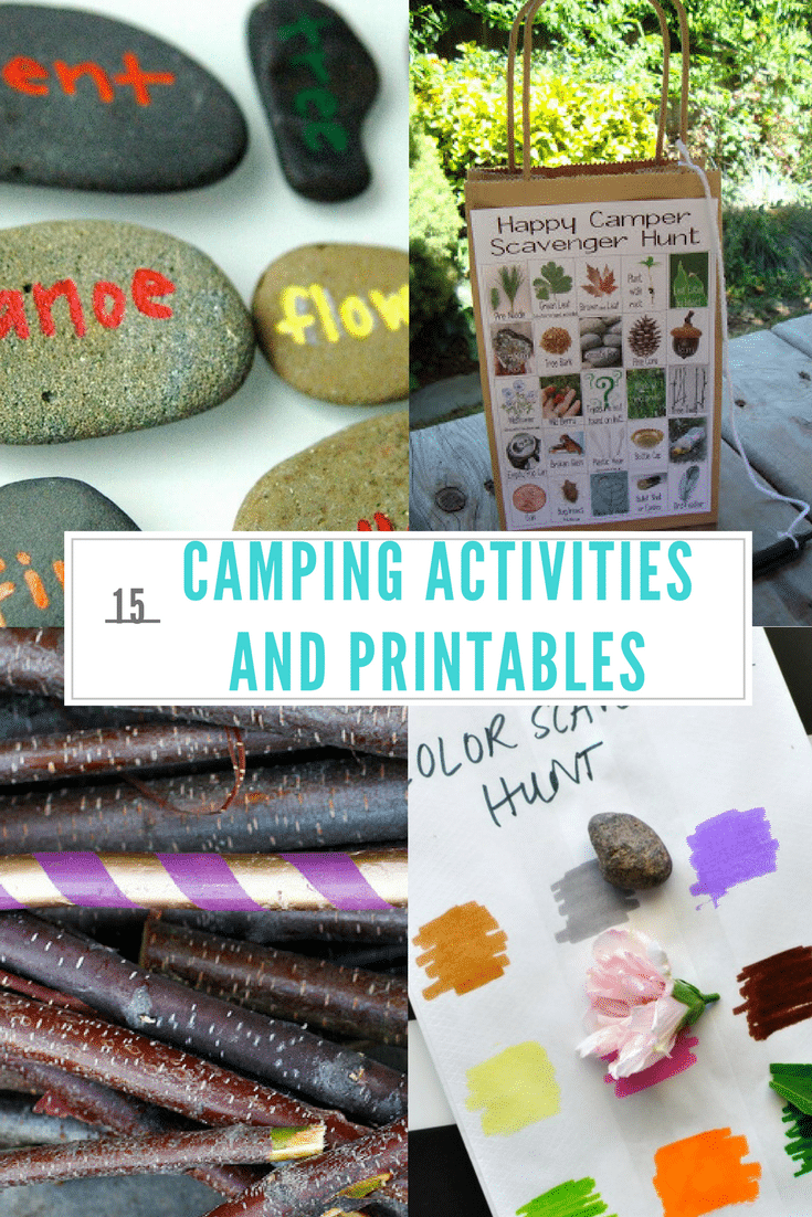 Check out our Top 15 Camping Activities and Printables to make your next camping trip tons of fun for the entire family! Great printables too!