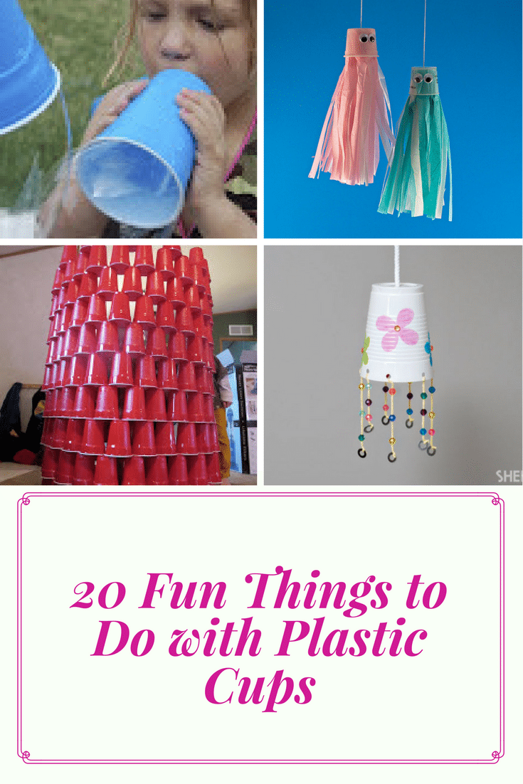 Plastic cups are a great summer craft tool! Check out our favorite fun things to do with plastic cups with your kids!