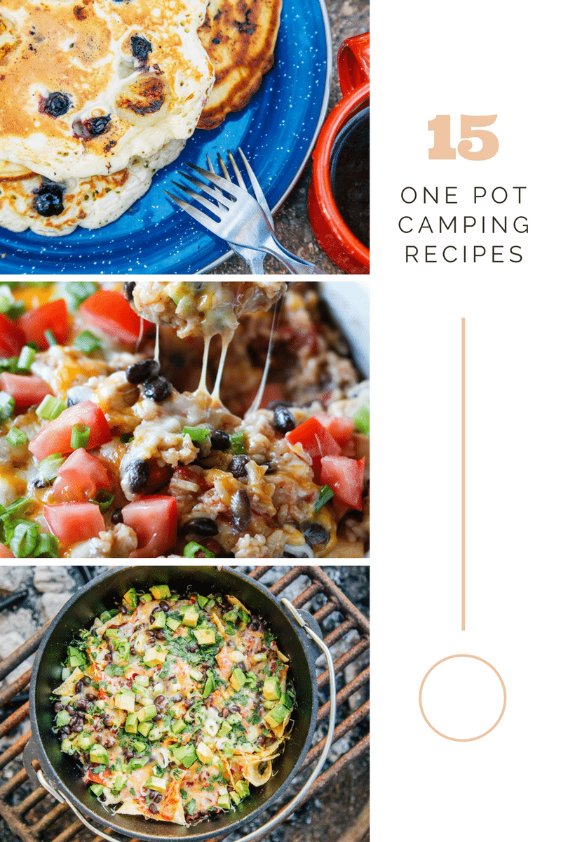15 One Pot Meals for Camping are a must when you want to save time and money while out camping with your family! These recipes are delicious!