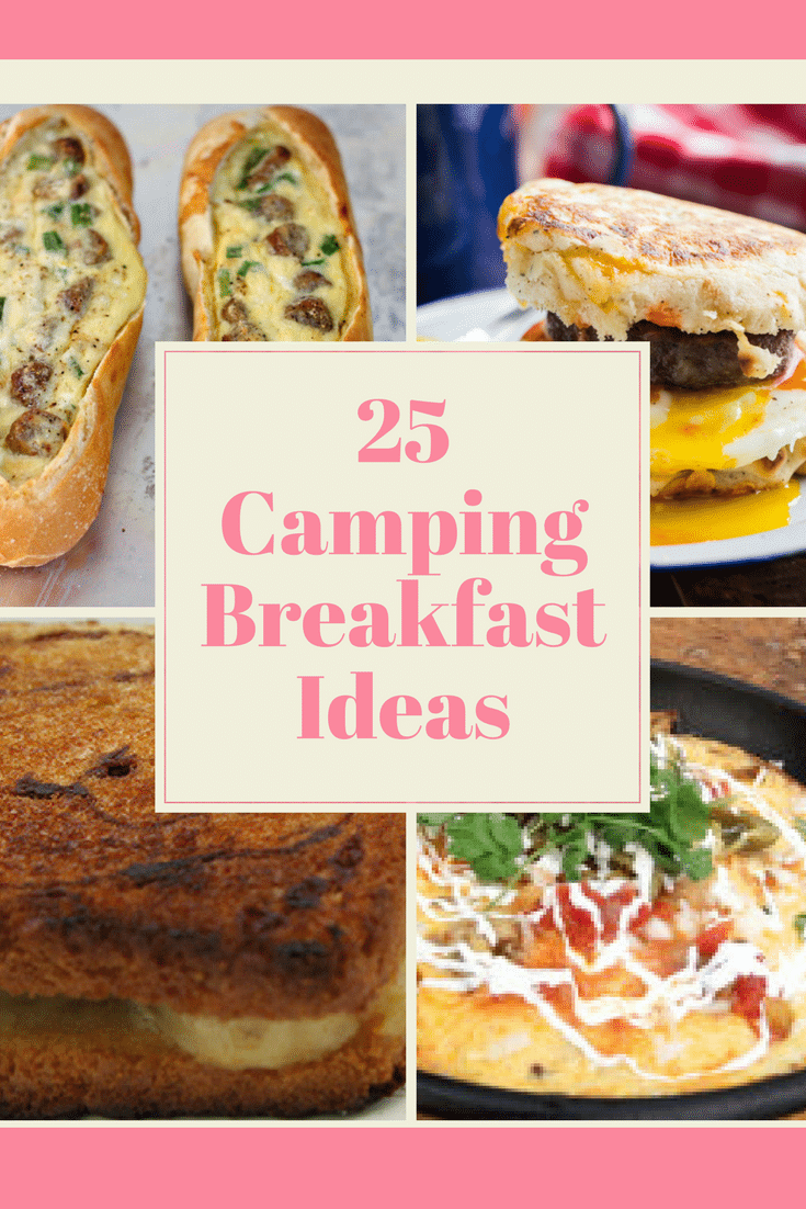Waking up to the crisp morning air and the smell of one of these Camping Breakfast Ideas is going to make your next camping trip amazing.  You could bring things like cold cereal, pastries, or muffins, but isn't a hearty breakfast a better option?  If you and your family are headed for a fun camping trip soon, you'll love these camping breakfast ideas! #campingtrips #familytravel #Way2GoodLife #roadtrips
