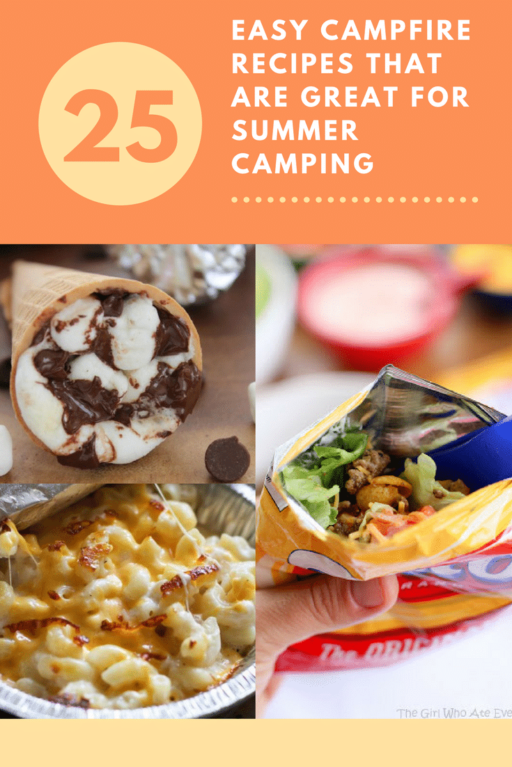Campfire Cooking is a great way to make delicious meals while out enjoying nature! Check out our favorite Camping Recipes for delicious meals! #camping #cooking #summer #roadtrip