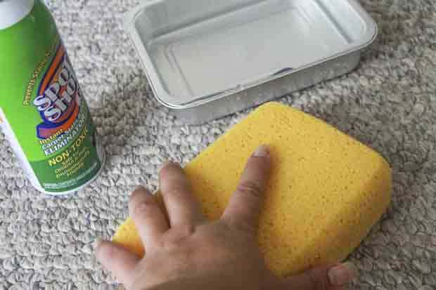 Carpet cleaning bloat again with sponge