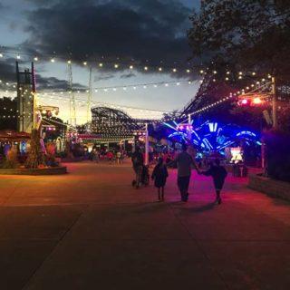 Cedar Point Night lights