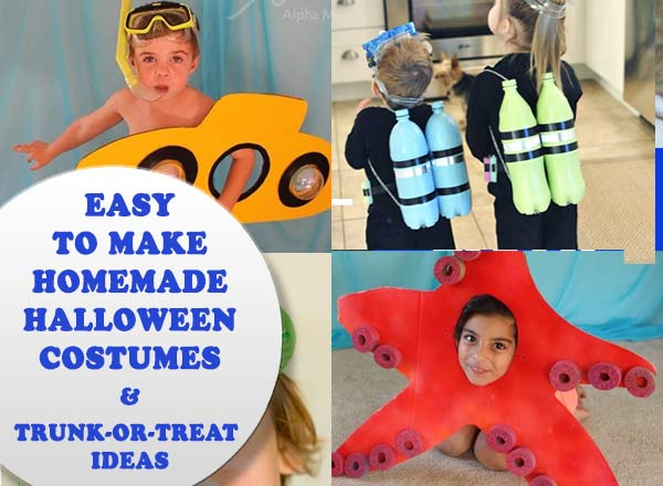 Easy to make Halloween costumes just in time for Halloween. PLUS trunk-or-treat ideas #halloween #Way2GoodLife #diycostumes #halloweencostumes