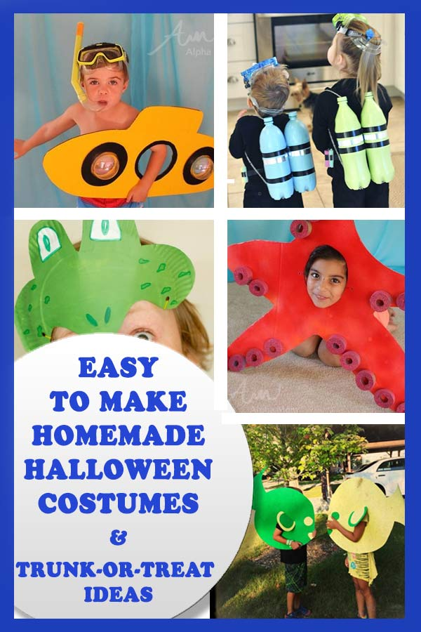 Easy to make Halloween costumes just in time for Halloween. PLUS trunk-or-treat ideas