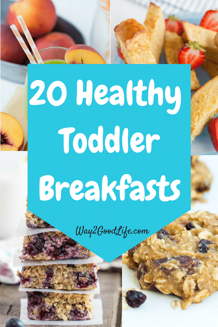 These Healthy Toddler Breakfasts are ideal for making sure your kids start their day with a healthy meal!  We love these recipes and the easy ideas listed! #breakfastrecipes #breakfast #Way2GoodLife #toddler #mother