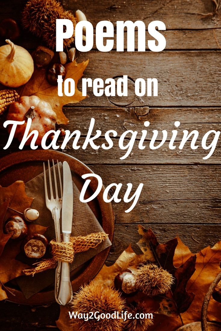 Sharing our best collection of THANKSGIVING POEMS FOR YOUNGER CHILDREN! #thanksgiving #activities #Way2GoodLife #familyactivities
