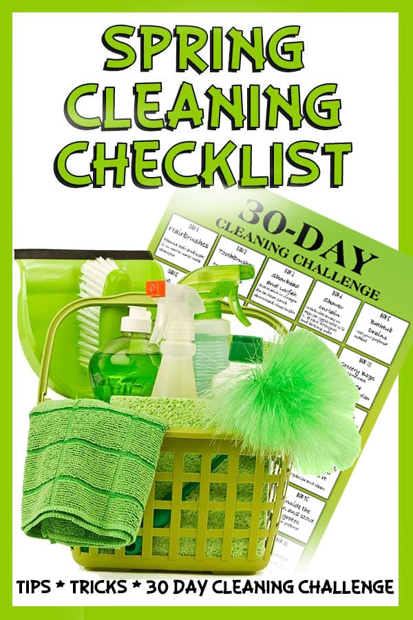 Spring Cleaning Tips - Your Checklist and 30-Day Cleaning Challenge