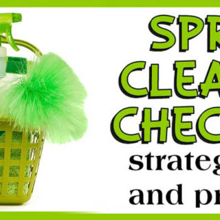 Spring Cleaning Checklist tips tricks and printable