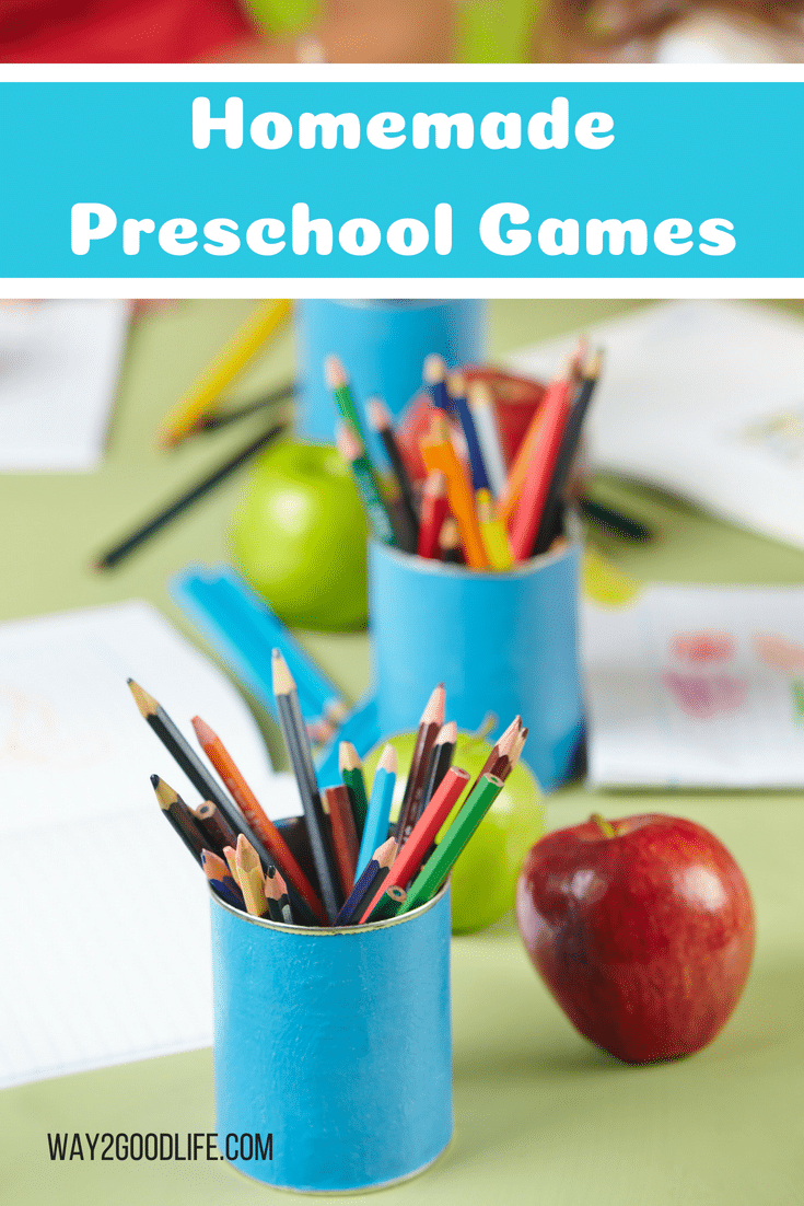 Check out our favorite Homemade Preschool Games that are ideal for homeschooling or just keeping your little ones busy while you are working around the house!