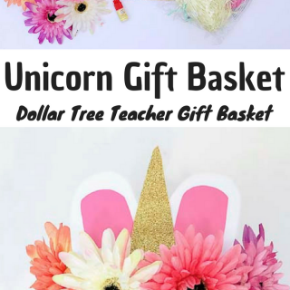 Check out our super easy Unicorn Gift Basket just in time for Teachers Appreciation day! A unique and easy cheap gift that you can make from Dollar Tree items!