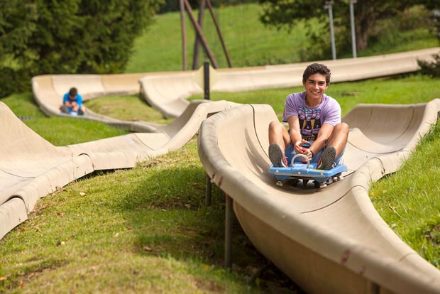 Mountain Chestnut teen on Alpine Slide