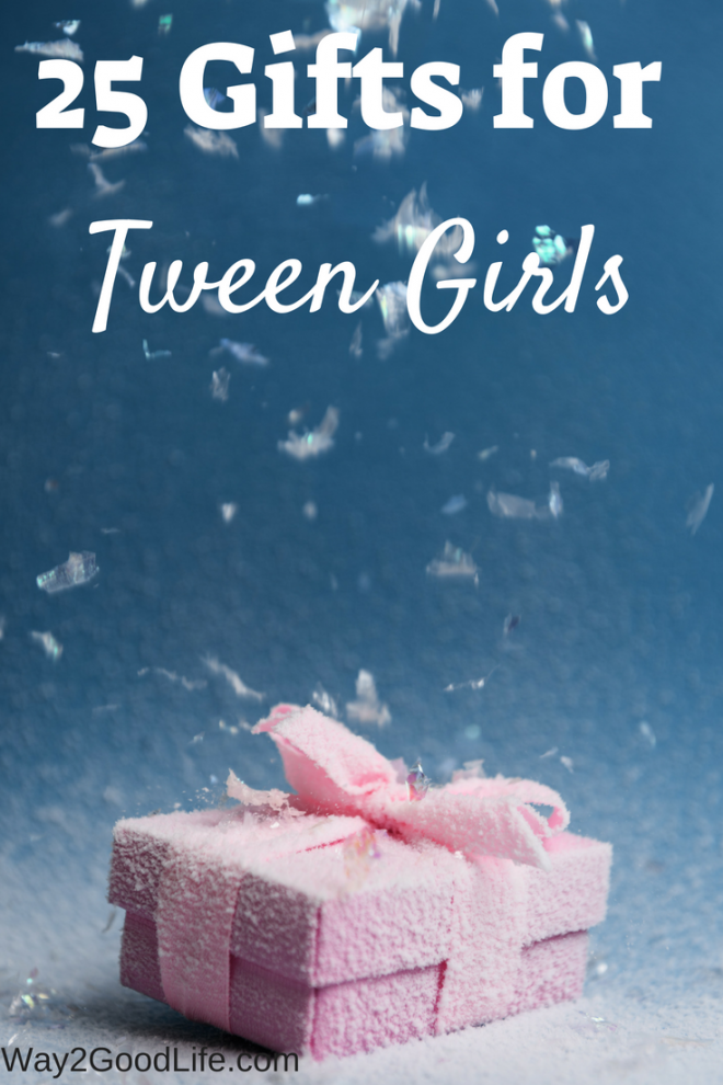 Don't miss our hot list of gift ideas for tween girls! This list is just what you need to check before doing your holiday shopping and buying the perfect gift for a girl! #holidaygifts #Way2GoodLife #tweens