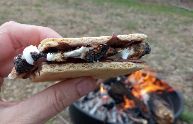 Nutella and Marshmallow in Pan Smore final