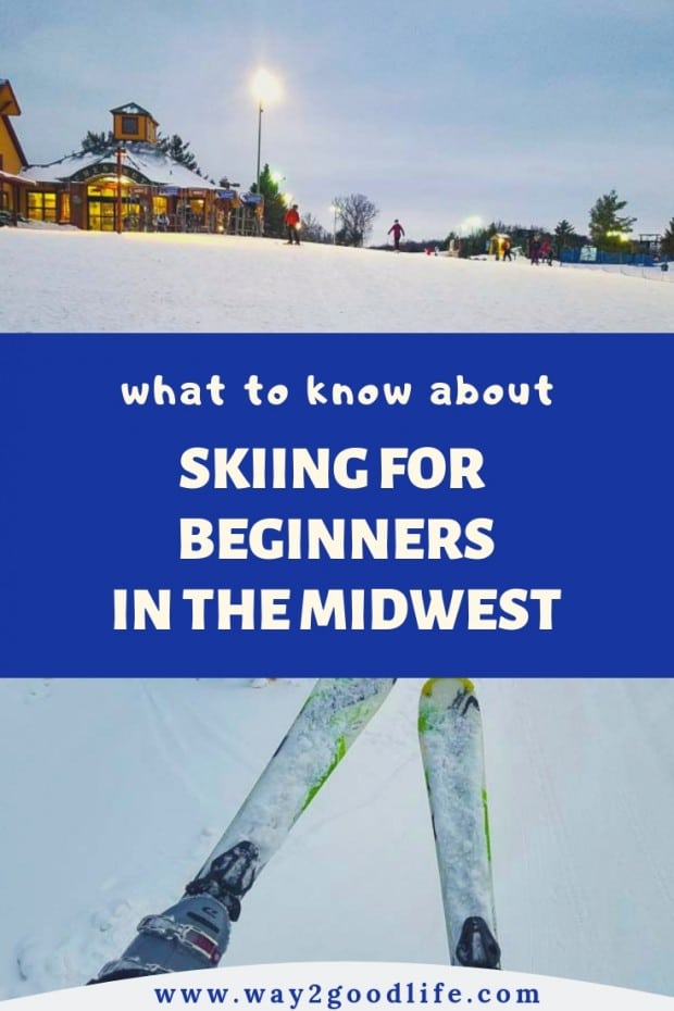 Oh… noooooo! I found myself laying in the snow. Why didn't I start my ski trip with a trip to a Midwest skiing school? Thirty minutes later I joined a group of the beginners in front of the colorful Ski School sign.What should you know before going a ski trip for the first time and other skiing tips for the beginners. Plus an amazing Midwest skiing mountain! #skiing #beginners #Midwest #FamilyTravel