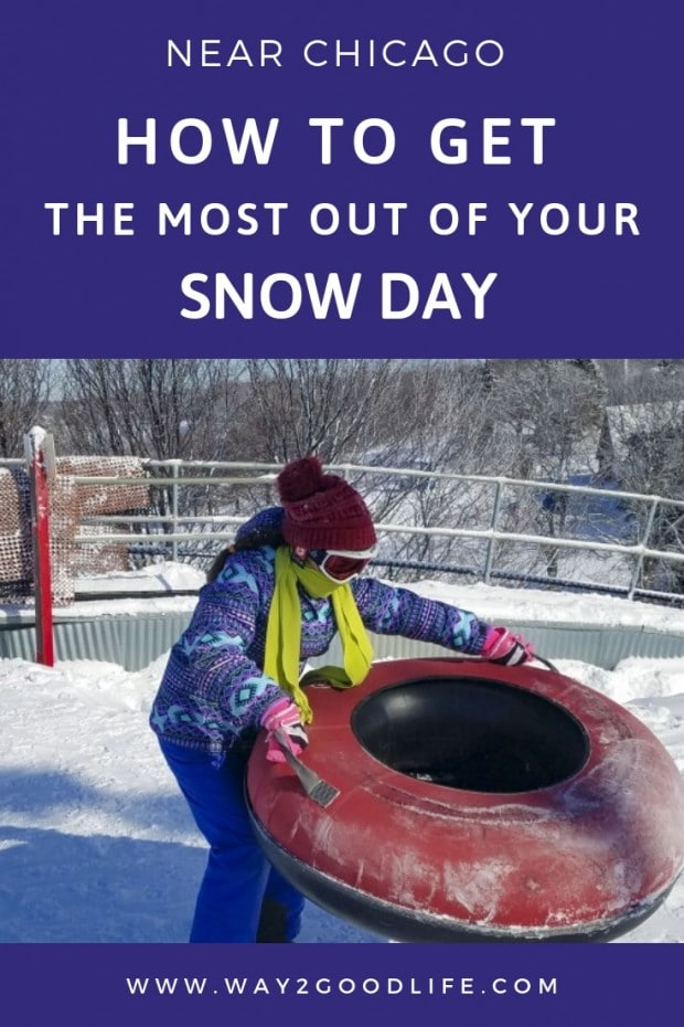 Where can you go snow tubing, skiing or snowboarding near Chicago? I had no idea we had a ski resort just 30 minutes away. Here are must-do things while skiing or snow tubing at the ski resort in Chicago suburbs #snow #winter #snowtubing #Midwest