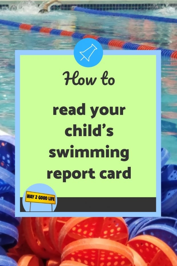 How to read your childs swimming report card