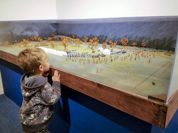 Boy watching battle Lafayette Tippecanoe Battlefield