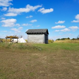 View of Lafayette Prophetstown State Park Native American Village copy260