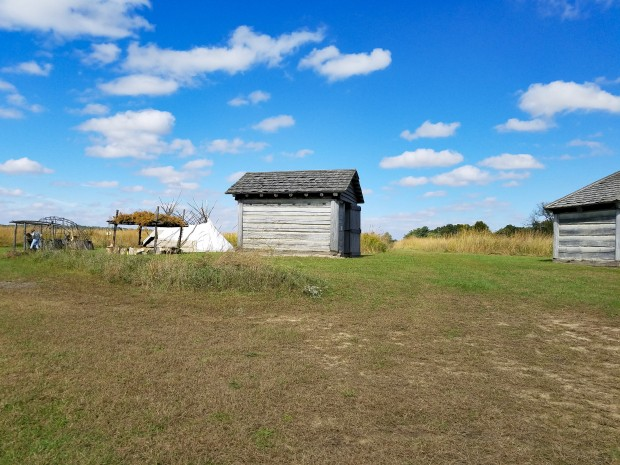 View of Lafayette Prophetstown State Park Native American Village