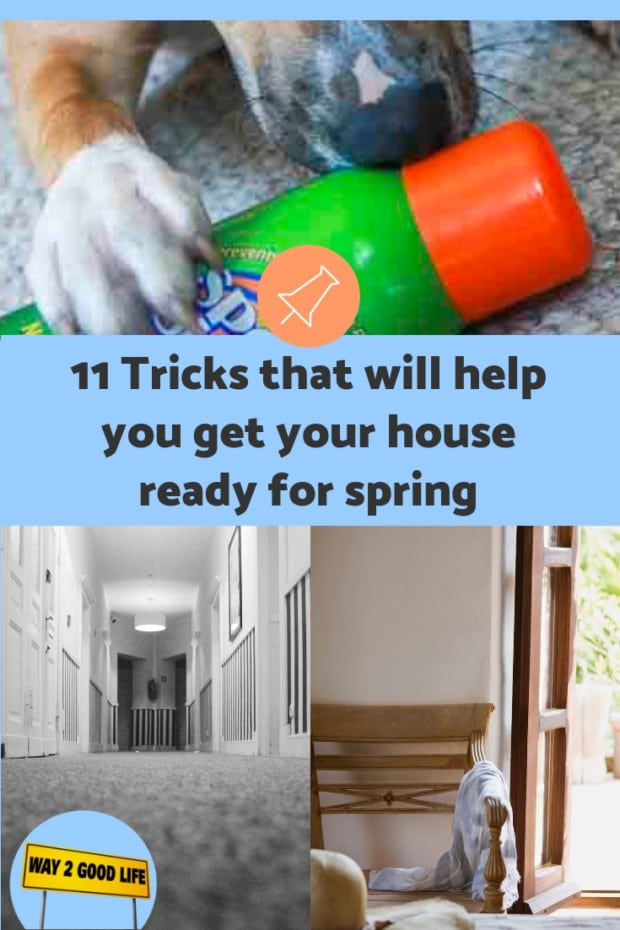 Pin for 11 tricks to get your house ready for spring article