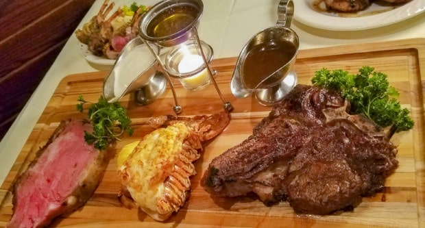 Butcher Block with meat at Palm Court in Arlington Heights