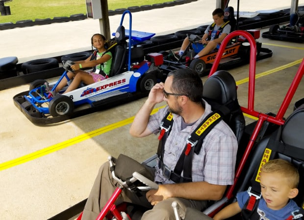 Port Clinton Family on Go Karts