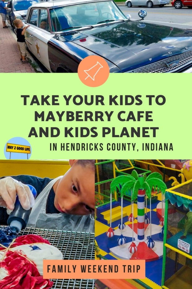 Take your kids to mayberry cafe and kids planet at Hendricks county, Indiana