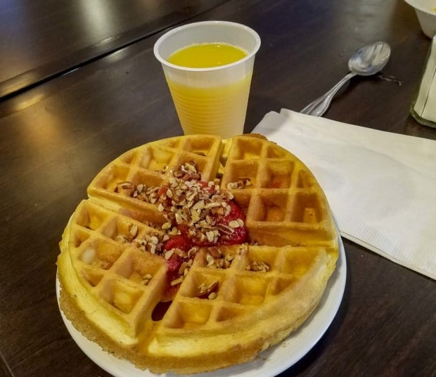 Waffle at Staybridge Hotel in Hendricks Hotel