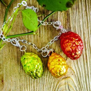 Dinosaur Egg charm bracelet Tutorial