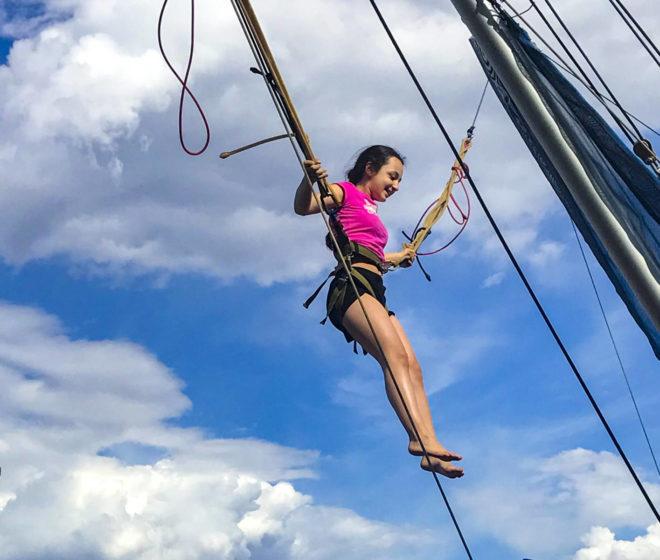 Girl Jumps at Wylie Park  Aberdeen South Dakota