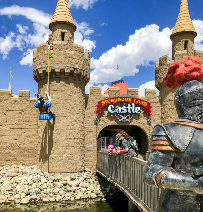 View of Storybook Land Castle at Land of Oz in Storybook Land Aberdeen South Dakota