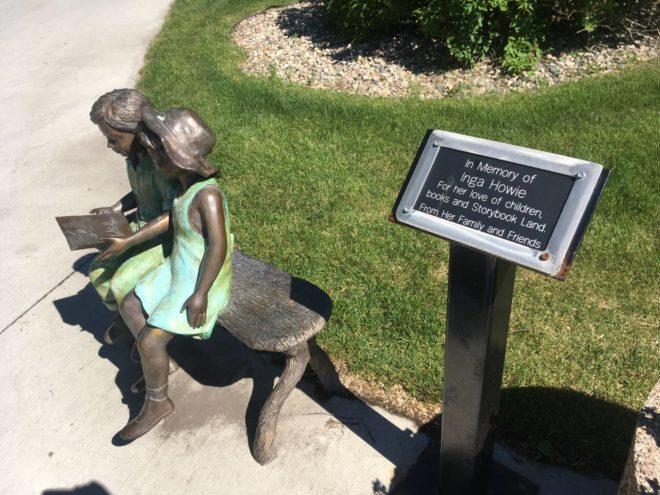 Memory bench in Storybook Land Aberdeen South Dakota