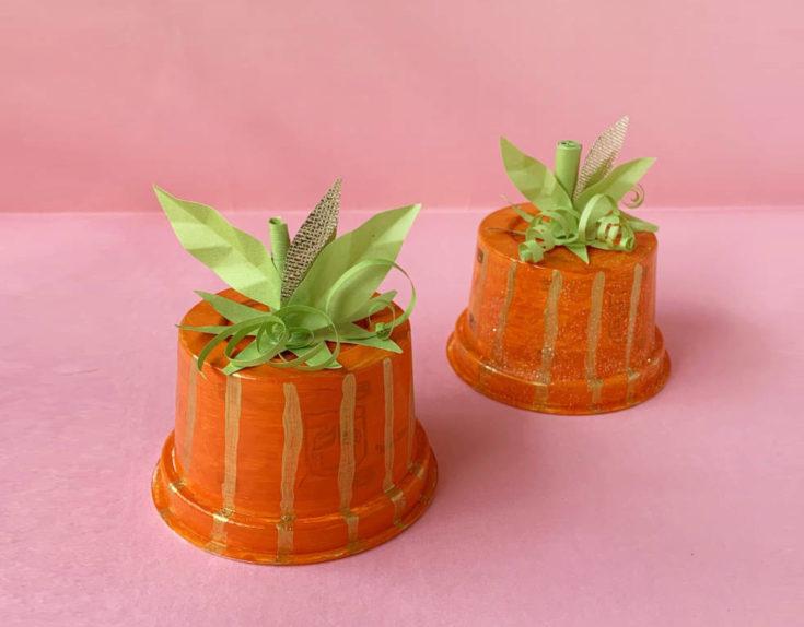 Plastic Cup Pumpkin craft