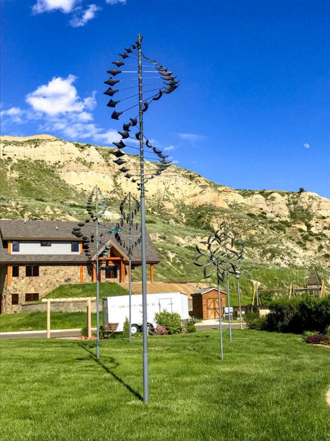 Giant Wind flugers in Medora, North Dakota