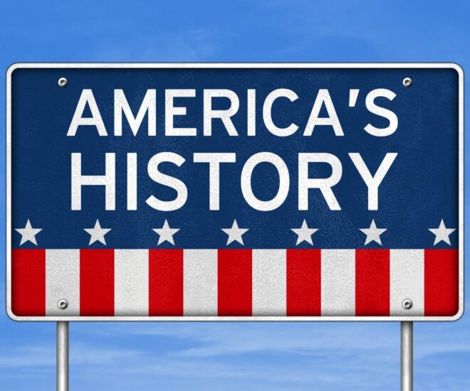 American History road sign