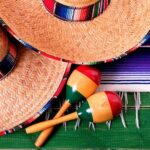 Two Mexican hats and maracas