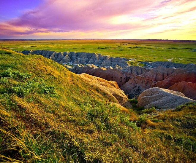 gorgeous landscapE of South Dakota