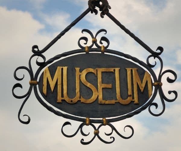 Museum sign in the skies