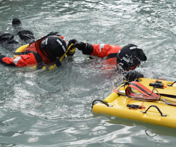 Sea cadet demo of water rescue