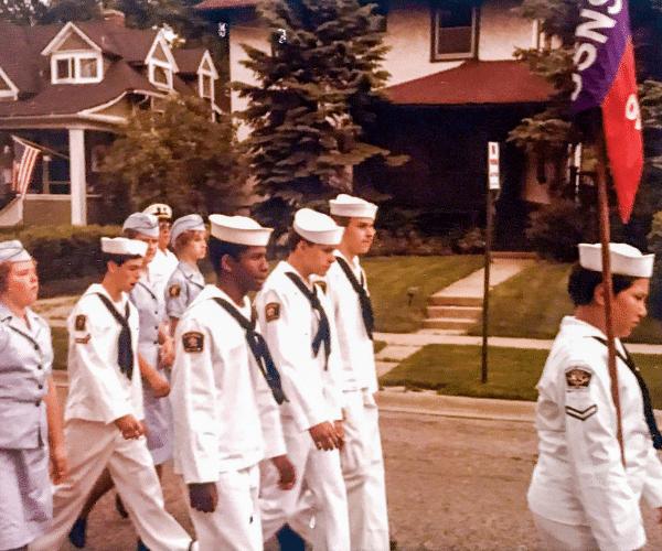 Vintage of photo of sea cadet unit