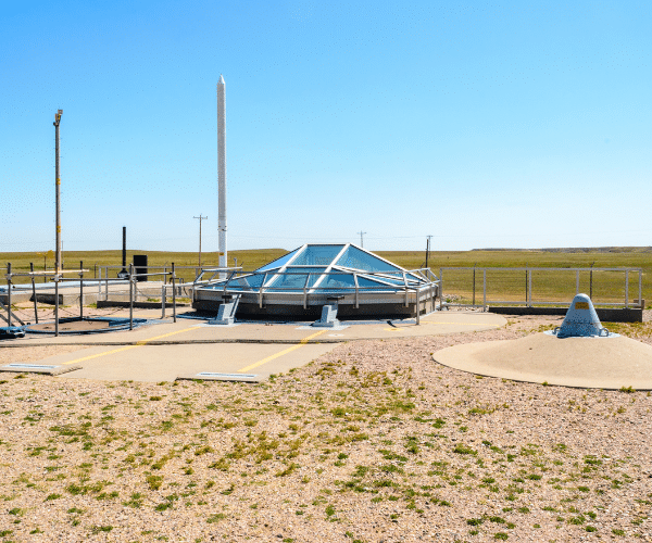 Minuteman view from outside in Dakotas of Cold War Missile Silos