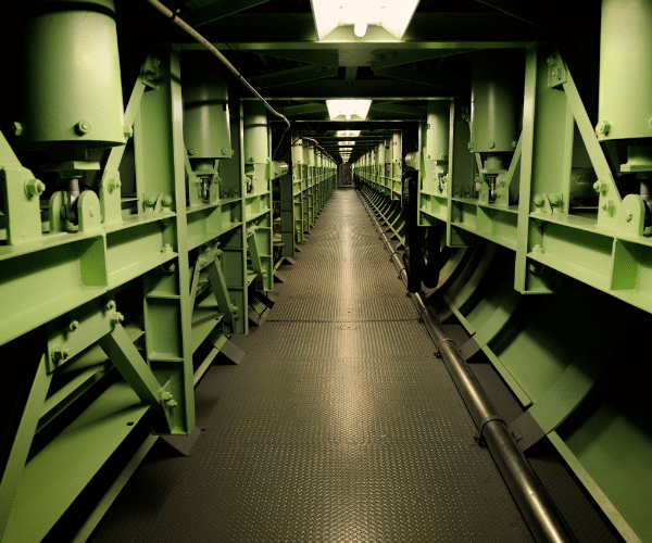 inside of Missle Silo - AZ of Cold War Missile Silos in the United States