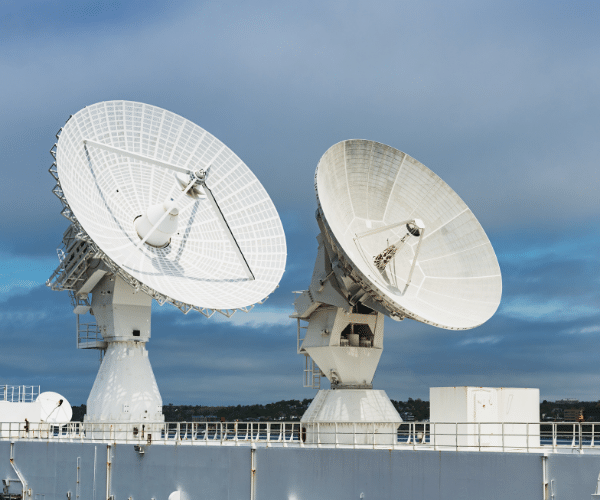 Radars pointing in sky