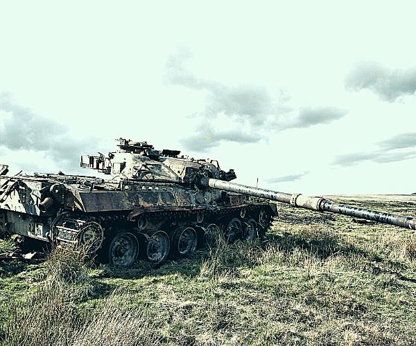 Vintage Tank abandoned in field