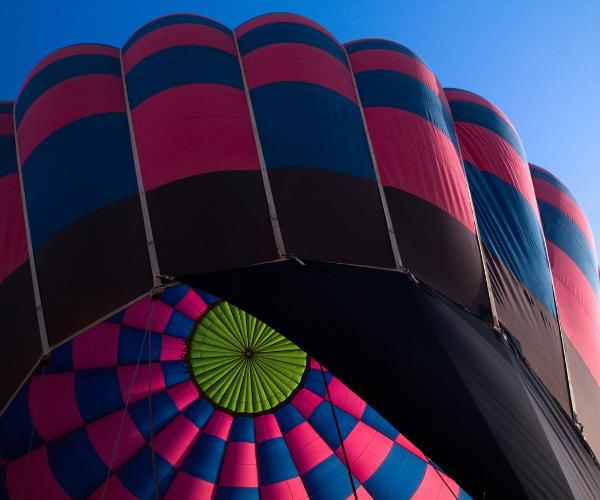 Closeup of giant air baloon