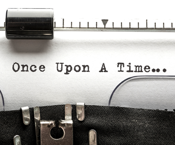 Once upon a time written on typerwriter